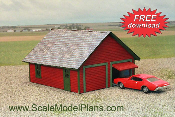 Cardstock Structures for Model Railroads and Dioramas ... on train car house plans, railroad car home, passenger car house plans, freight car house plans,