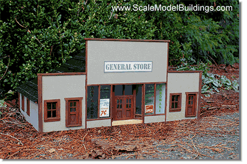 image about Ho Scale Buildings Free Printable Plans named Cardstock Constructions for Fashion Railroads and Dioramas